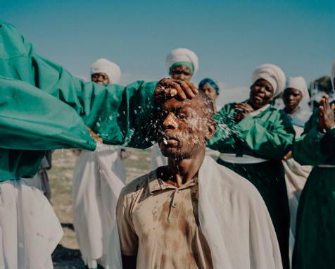Interface between nature and spiritual rituals: baptism ceremony at the Church of the Whole World, Cape Town, South Africa, 2018