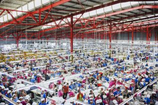 Wildcat strike in a textile factory in the Antananarivo region. Workers are claiming their right to social security, holidays, a rise in salary and meals at work.