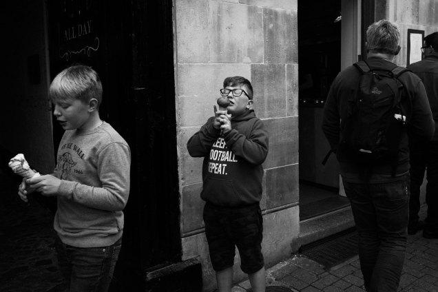 Kids and ice-cream. Cambridge, UK