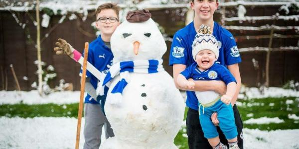 SNOW FUN – Over 80 Leicester City Snowmen Built