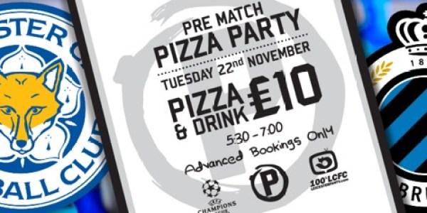 Pre Match Pizza Party – Champions League