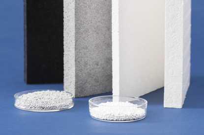 Erstmalig präsentiert BASF einen Partikelschaum aus einer Kombination verschiedener PA6 Typen. (Quelle: BASF)