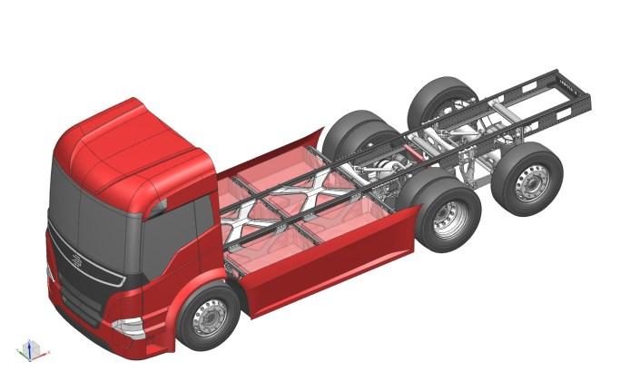 Das Leichtbau-Chassis Konzept Batterange (Quelle: Leichtbau BW / EDAG Engineering)