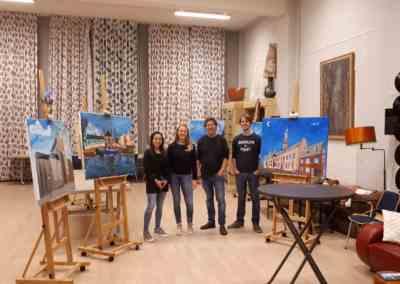 Schilderworkshop Speedpainting Leiden
