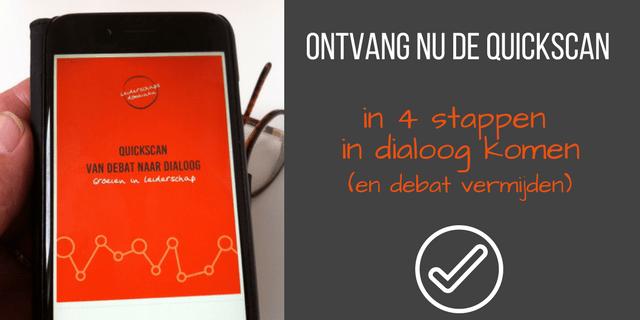 Promo quickscan Van debat naar dialoog