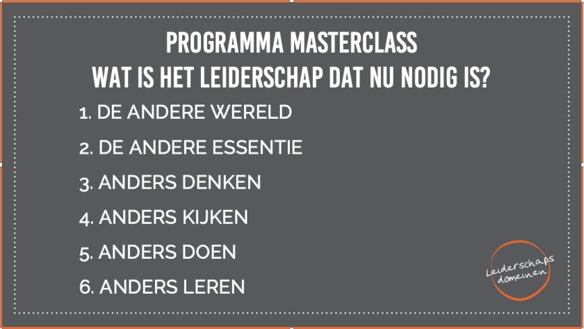 Programma Masterclass