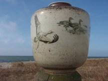 Gæs, stentøj, kgl. porcelæn, højde 23 cm