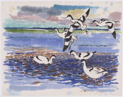 Klyder, akvarel 20x25