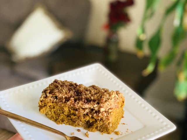 Vegan Pumpkin Coffee Cake
