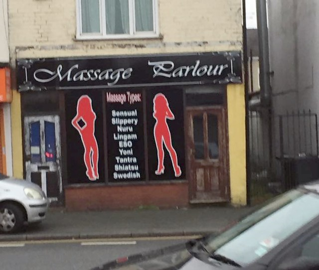 Massage Parlour On Leigh Road Advertises Erotic Services