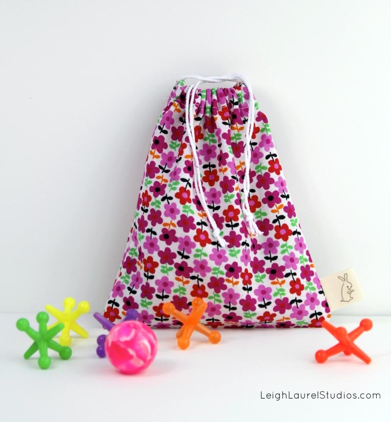 Drawstring Stocking Stuffer Gift Bags in Two Sizes