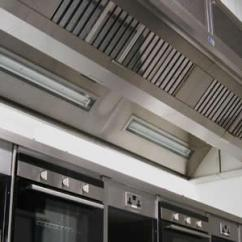 Stainless Steel Wall Panels Kitchen Commercial Ninja System Canopies - Leightec Ventilation Systems