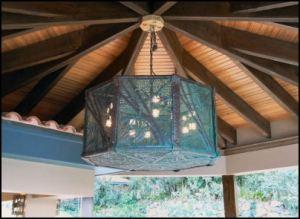 Bamboo Design Copper Chandelier