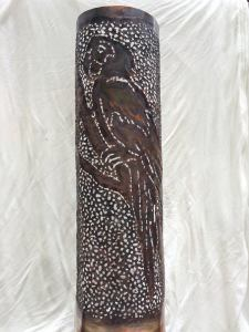 Copper Parrot Sconce