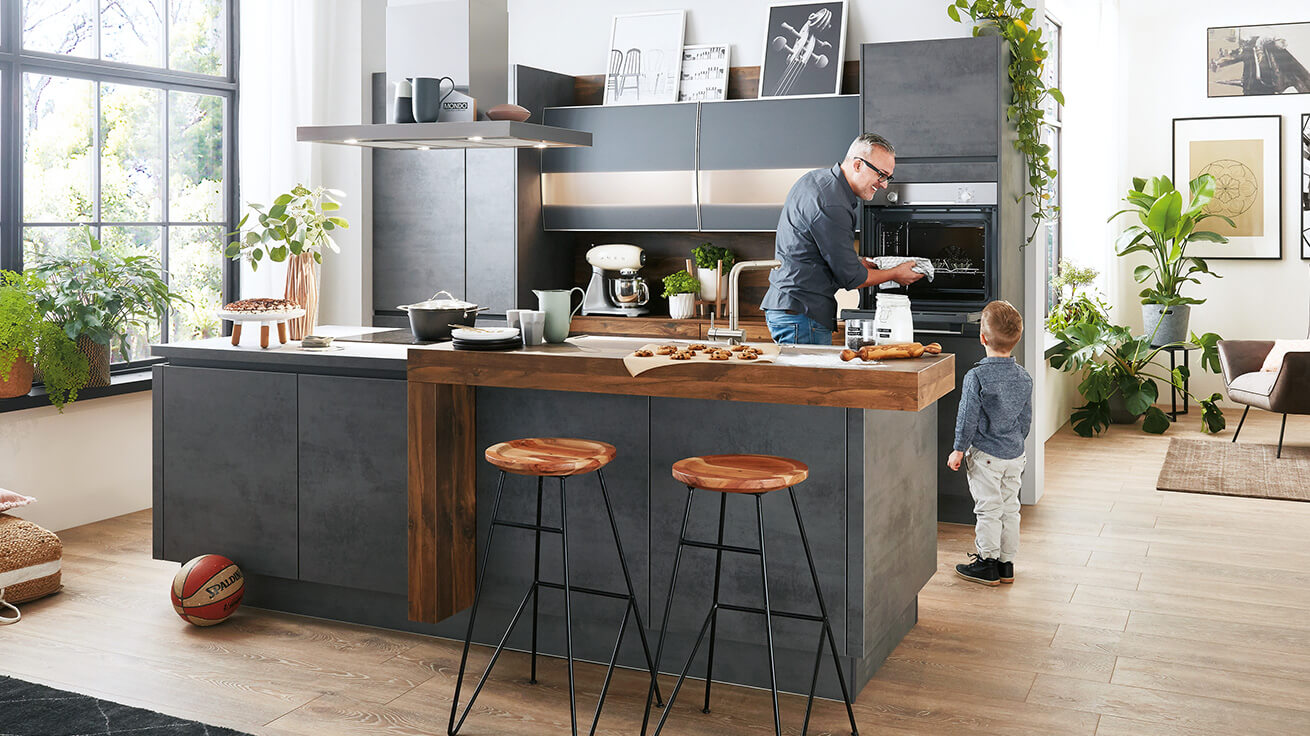 leiner moderne küche modell   bodenbeläge zementestrich