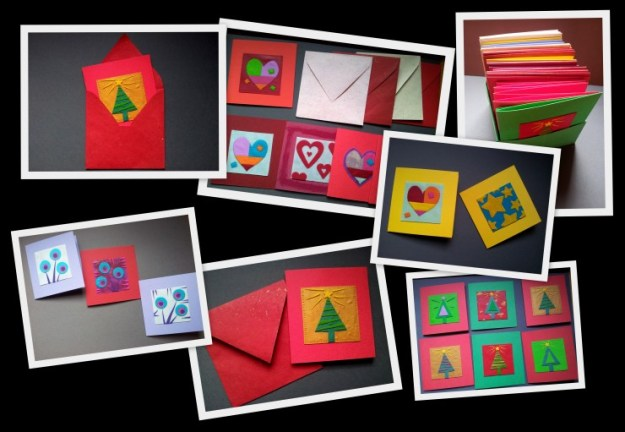 Christmas Cards in Fimo