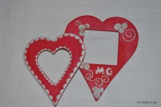Cornici magnetiche a cuore in fimo