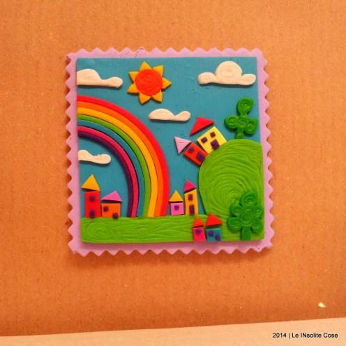 Cartoline dal Mio Mondo - Calamite Paesaggetti con Arcobaleno - Handmade with Fimo, without stamps - Le InSolite Cose 2014 (17)