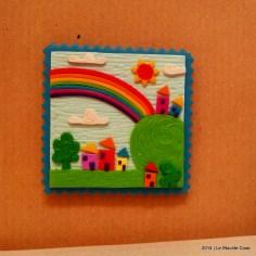 Cartoline dal Mio Mondo - Calamite Paesaggetti con Arcobaleno - Handmade with Fimo, without stamps - Le InSolite Cose 2014 (6)