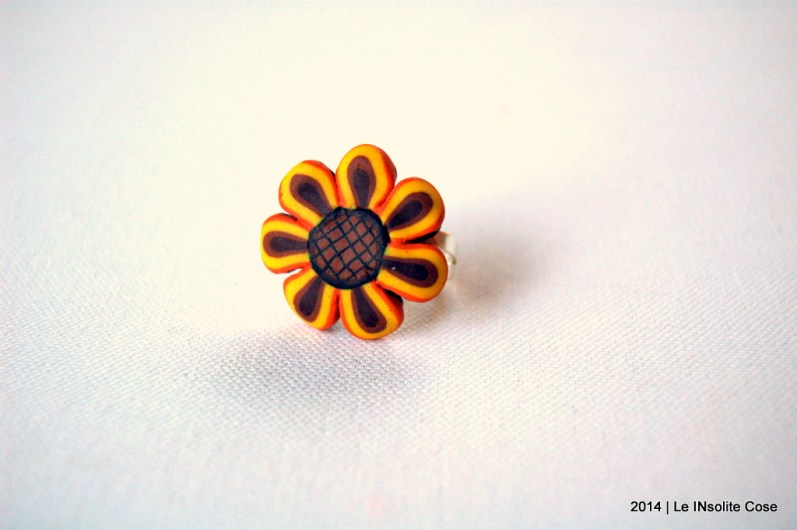 Anelli in Fimo serie 'Weird Sunflowers' Le InSolite Cose - 2014 (2)