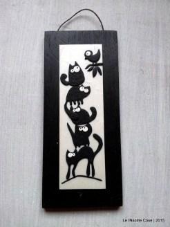 Quadro gatti - fondo madreperla