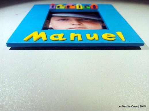 Cornice Magnetica Portafoto personalizzata con nome - Manuel - Le INsolite Cose 2015  (1)