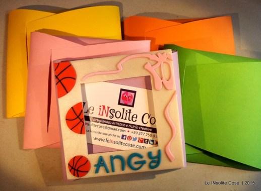 Cornice portafoto con palle da basket e scarpette da danza - per Angy - Le INsolite Cose (7)