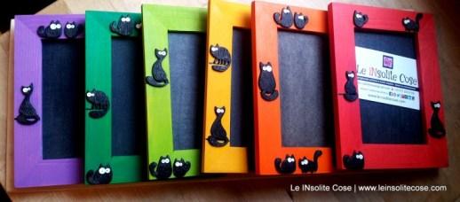 Cornici portafoto in legno da tavolo con gatti neri - le INsolite Cose (1)