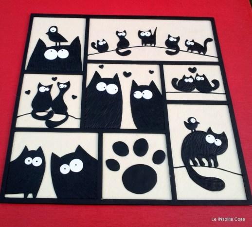 Tavoletta gatti -. The Lovecats - 28x28 - Le INsolite Cose 2015 (2)