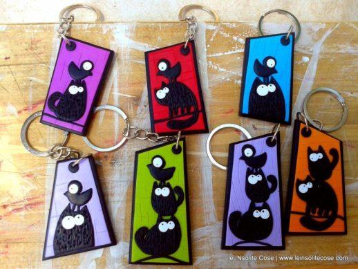 Portachiavi Gatto nero stilizzato - le INsolite Cose 2016 (1)