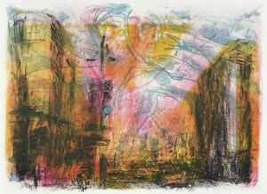 Christl Maria Göthner, Übergang, 2014, Lithografie, 30 x 41 cm