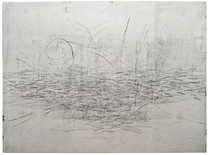 Ute Haring, Nirgendwo, 2015, Radierung (Hartgrund/Vernis mou), 59 x 79 cm
