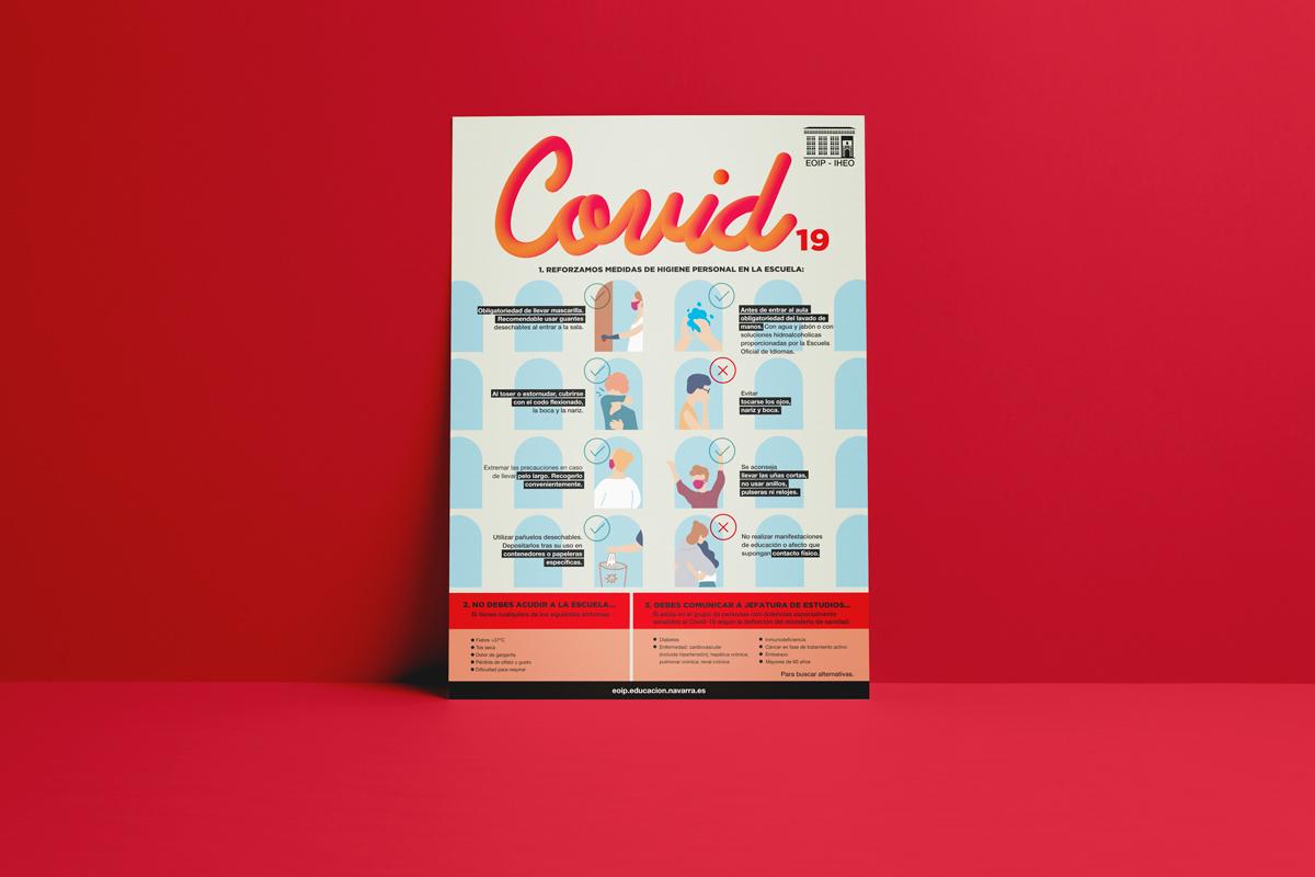 imagen cartel infografía COVID-19