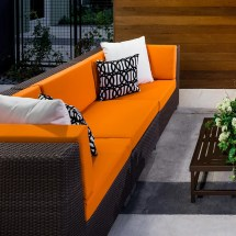 Commercial Outdoor Lounge Wicker Sofa Patio