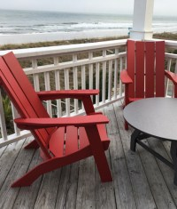 Commercial Resort Wood Adirondack Chair, Outdoor Patio