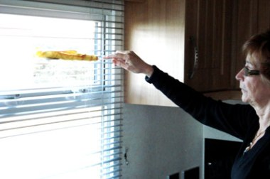 Use a duster wrapped round a ruler to clean blinds