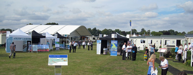 Visitors to the Lawns show