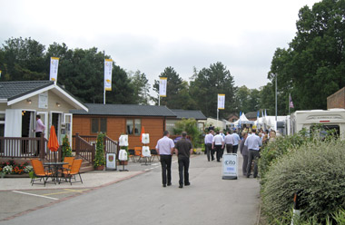 Trade visitors to the Lawns show
