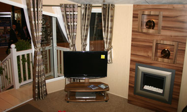 Willerby Winchester Lounge TV and Fireplace