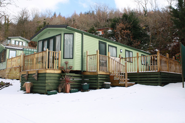A holiday home in the snow