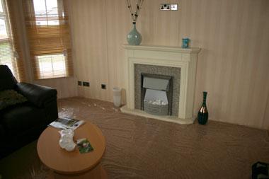 Stellar Sunrise Lounge Fireplace