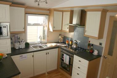 Carnaby Rosedale Static Caravan Kitchen