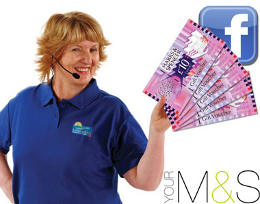 nora holding m&s vouchers