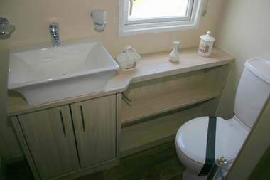 Carnaby Aspire Static Caravan Shower Room Basin