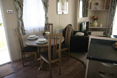 Carnaby Aspire Static Caravan Dining Area