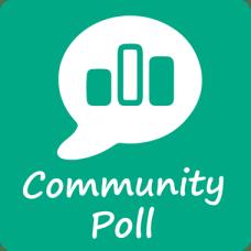 Community Poll icon resizes