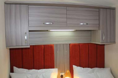 Swift Moselle holiday lodge twin bedroom