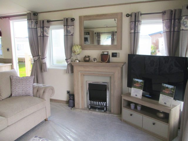 ABI Beaumont fireplace and TV