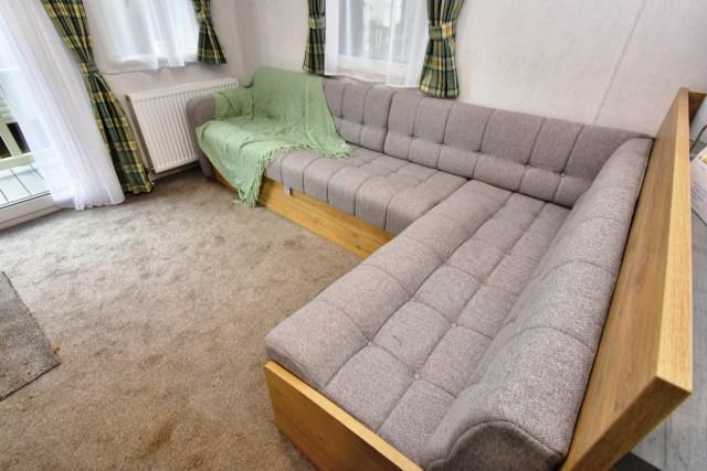 Atlas Mirage Static Caravan L-shaped sofa