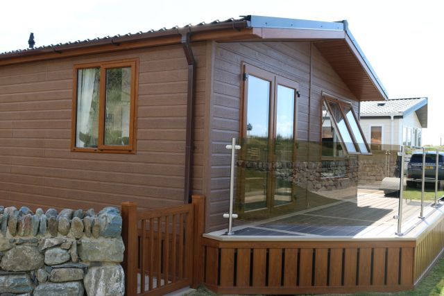 holiday lodge new porch decking